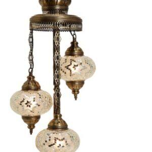 Turkish 3 Piece Mosaic Corner Lamp - Yıldız