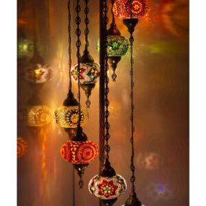 Turkish 7-Piece Mosaic Floor Lamp - Sultan