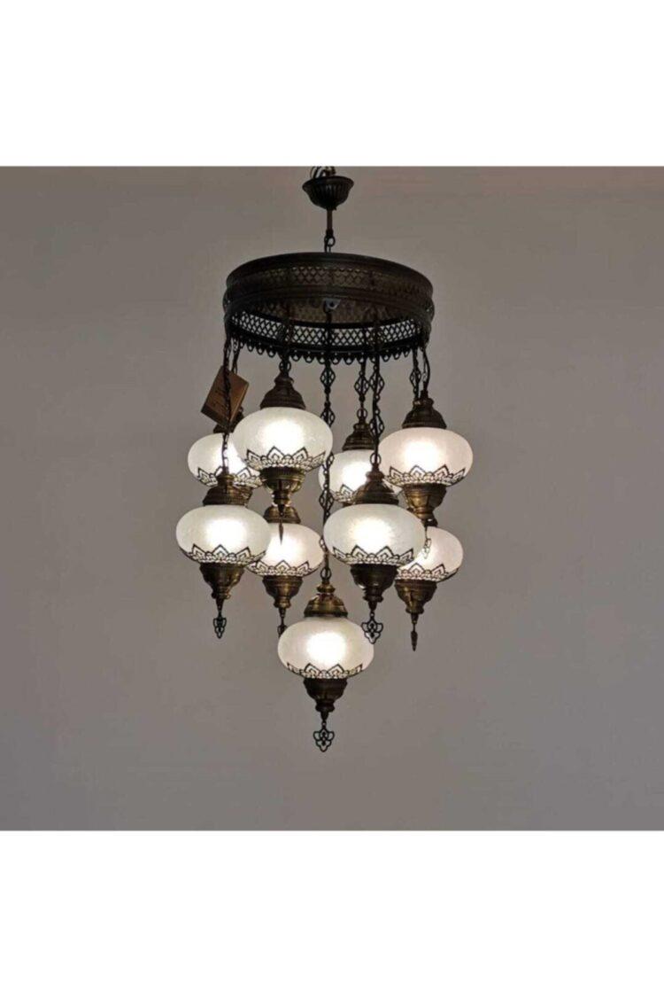 Turkish 9 Piece Decorative Chandelier - Osmanlı