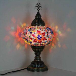 Turkish Mosaic Desktop Lampshade Lamp - Alev
