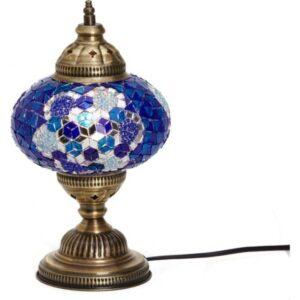 Turkish Mosaic Desktop Lampshade Lamp - Maviş