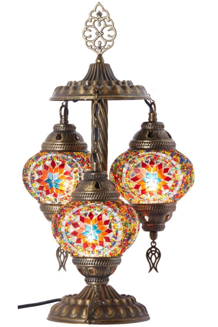 Turkish Triple Mosaic Desktop Lampshade Lamp - Mahire