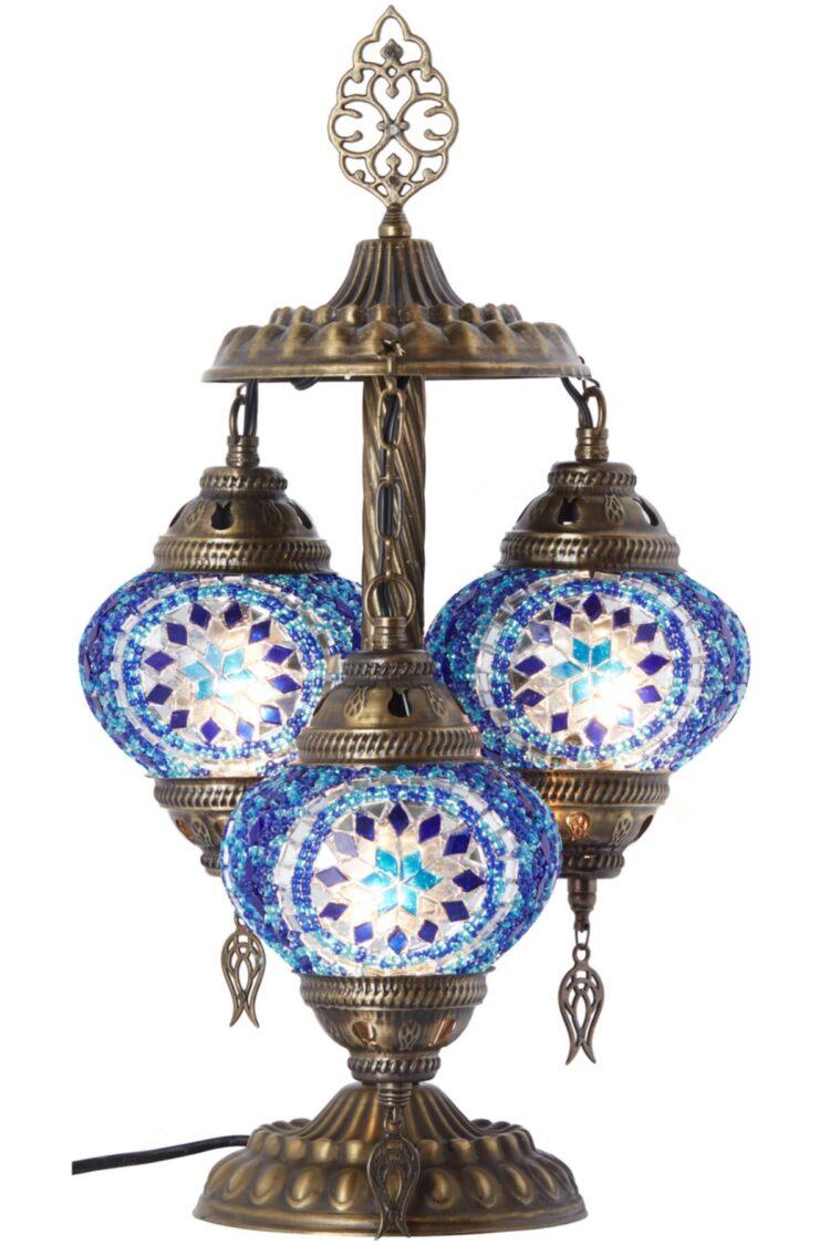 Turkish Triple Mosaic Desktop Lampshade Lamp - Ufuk