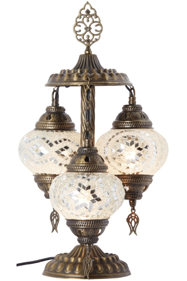 Turkish Triple Mosaic Desktop Lampshade Lamp - Yekpare