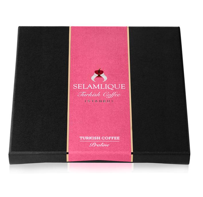 Turkish Praline with Rose - Dark Chocolate and Milk - Selamlique