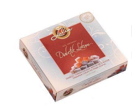 Diabetic Turkish Delight with Rose Flavour Sugar-Free 225g (7.94oz)  Faruk Güllüoğlu