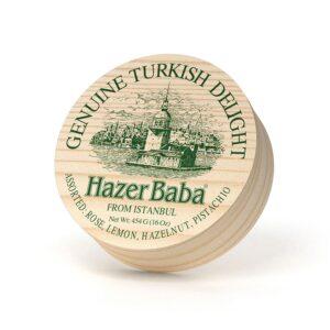HazerBaba Genuine Turkish Delight From (Lokoum) İstanbul Assorted - 454g (16.01oz)