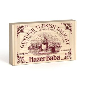 HazerBaba Genuine Turkish Delight (Lokoum) Assorted - 454g (16.01oz)