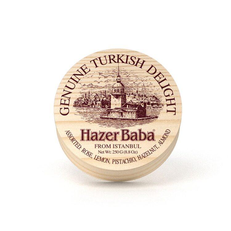HazerBaba Genuine Turkish Delight (Lokoum) From İstanbul Assorted - 250g (8.82oz)