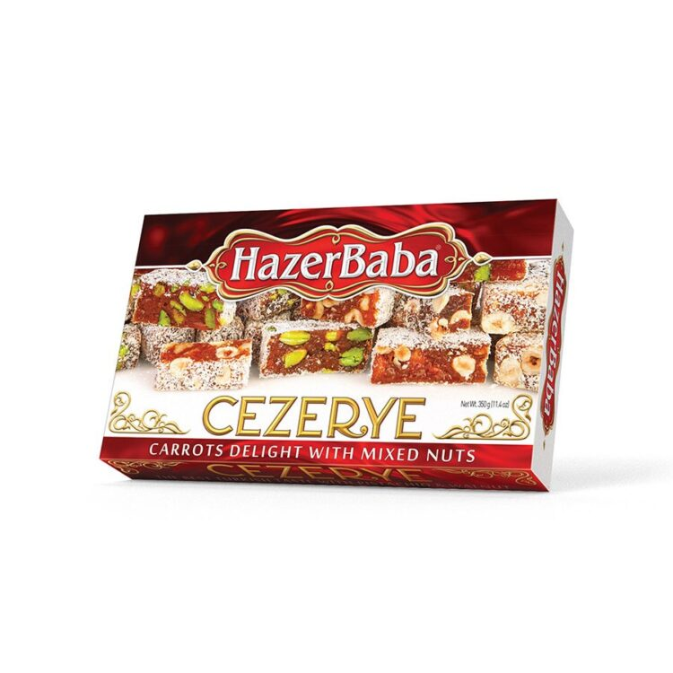 HazerBaba Turkish Carrots Delight With Mixed Nuts - 350g (12.25oz)