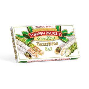 HazerBaba Turkish Delight (Lokoum) Assorted Batons Excellent  - 350g (12.25oz)