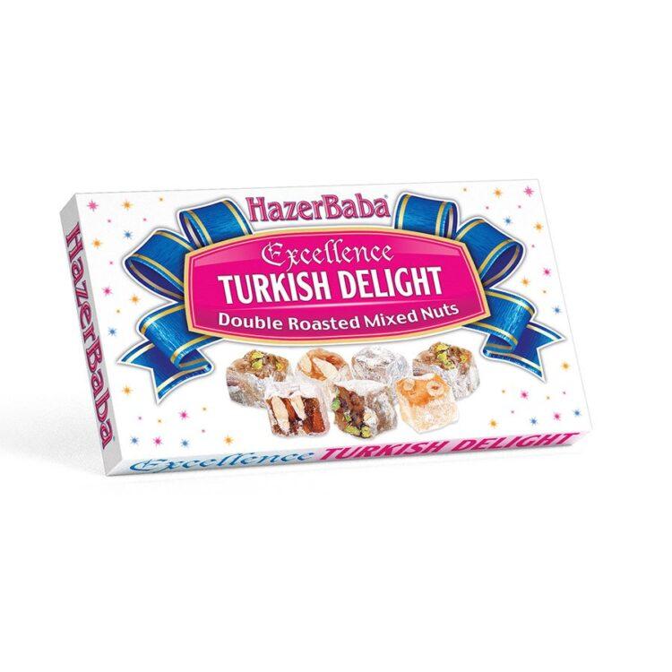 HazerBaba Turkish Delight (Lokoum) Double Roasted Mixed Nuts - 350g (12.25oz)