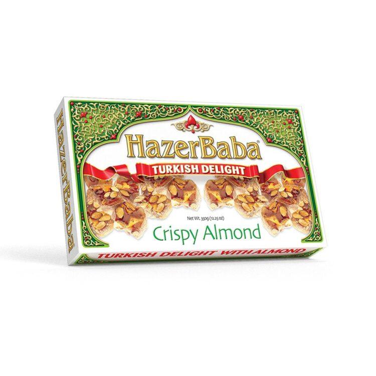 HazerBaba Turkish Delight (Lokoum) With Crispy Almond - 350g (12.25oz)