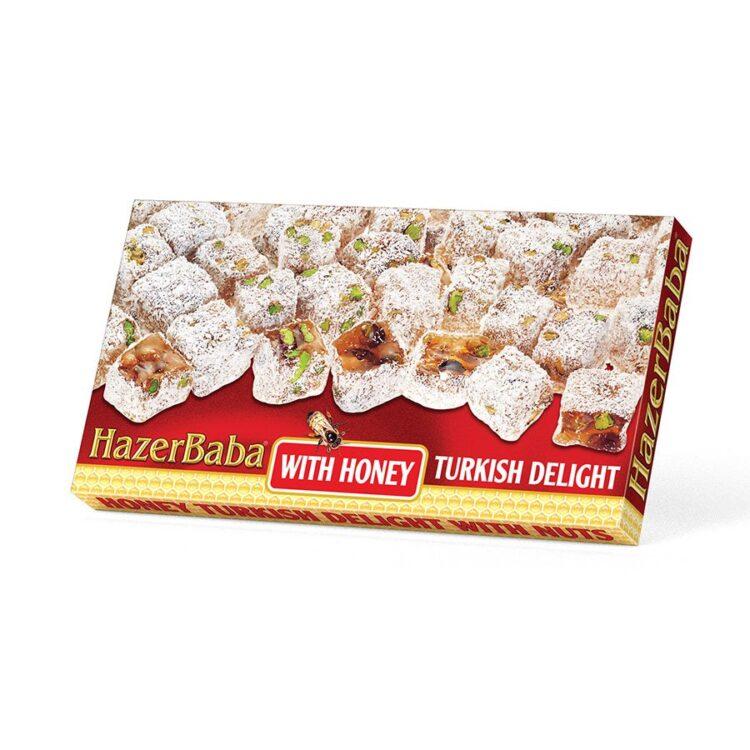 HazerBaba Turkish Delight (Lokoum) With Honey - 350g (12.25oz)