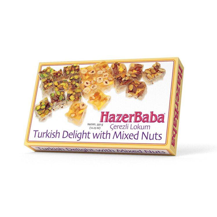HazerBaba Turkish Delight (Lokoum) with Mixed Nuts - 350g (12.25oz)