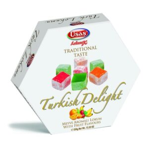 Usaş Turkish Delight Lokum Fruit-Flavored 350g (12.33oz)