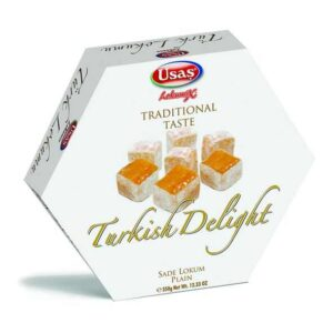 Usaş Turkish Delight Lokum Plain 350g (12.33oz)