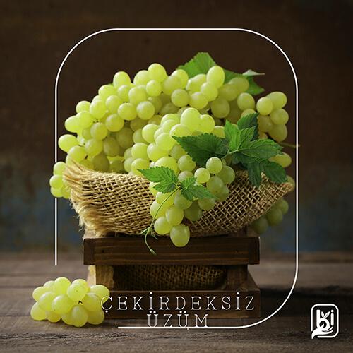 Turkish Natural Green Seedless Grapes