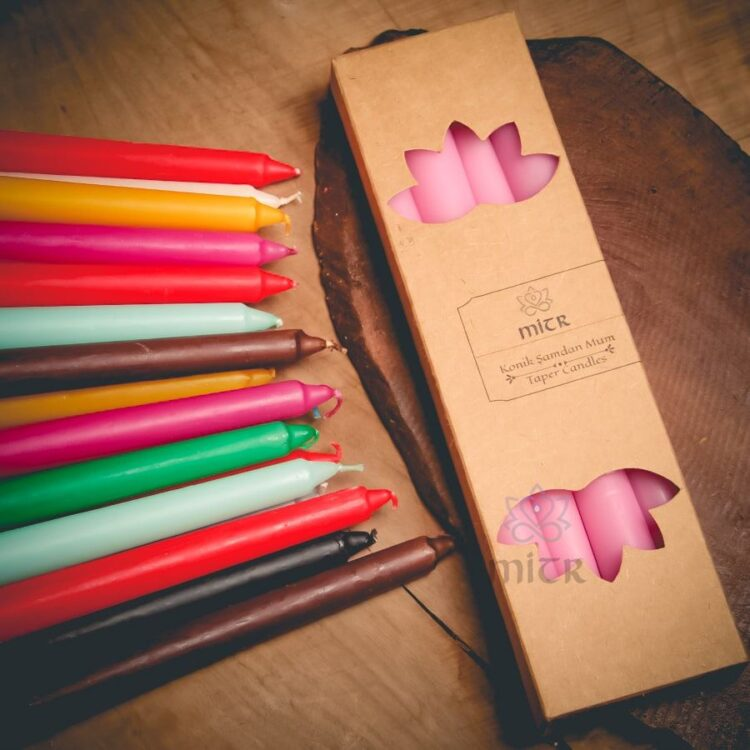 Colored Candlestick Candles - Mitr