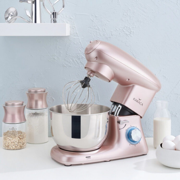 Turkish Multi Chef Stand Mixer with Ground Meat Pulling Apparatus - RoseGold