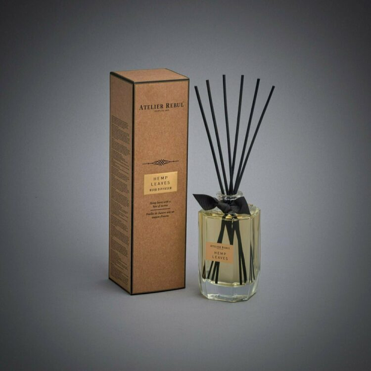 Hemp Leaves Scented Bamboo Stick Air Freshener - Atelier Rebul