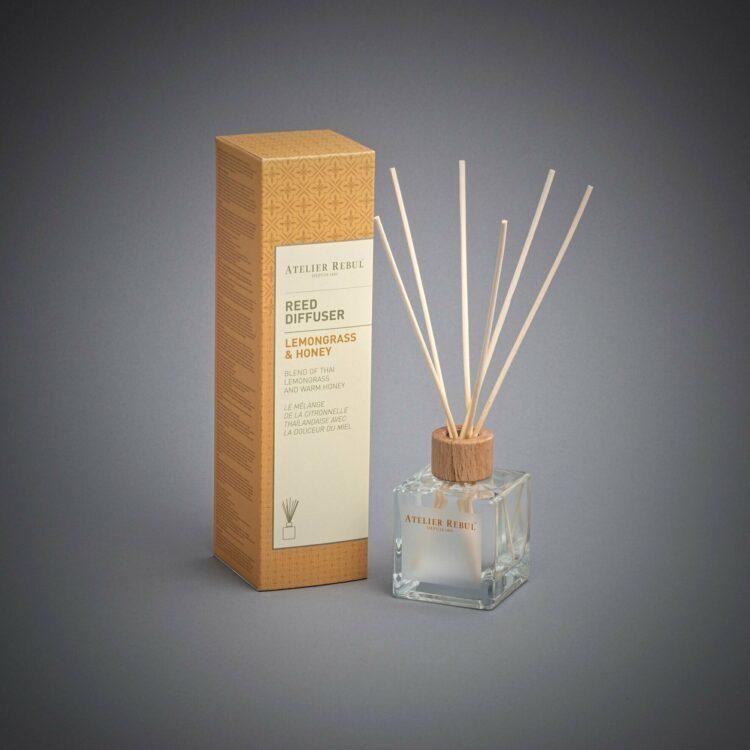 Lemon Grass & Honey Scented Bamboo Stick Air Freshener - Atelier Rebul