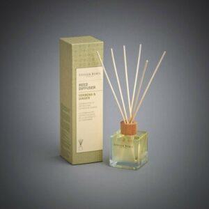 Verbena & Ginger Scented Bamboo Stick Air Freshener - Atelier Rebul