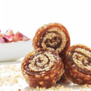 Turkish Pestil with Honey and Hazelnut (Dried Fruit Pulp)