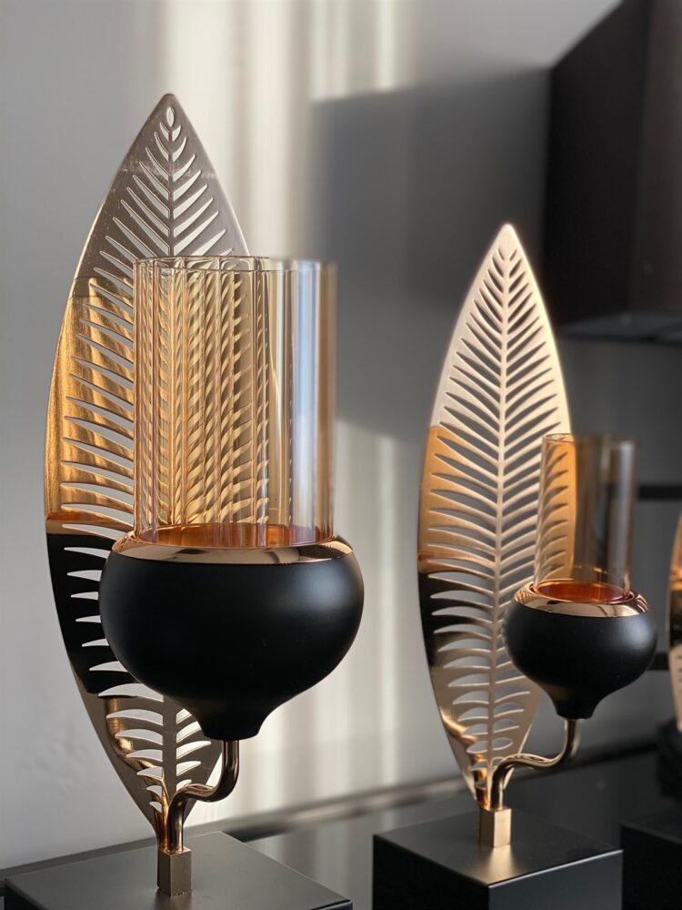 Leaf Pattern Decorative Candlestick Candle Holder - Modapek