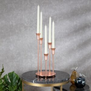 Rose Gold Decorative Candlestick Candle Holder - Morhipo