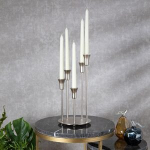 Silver Decorative Candlestick Candle Holder - Morhipo