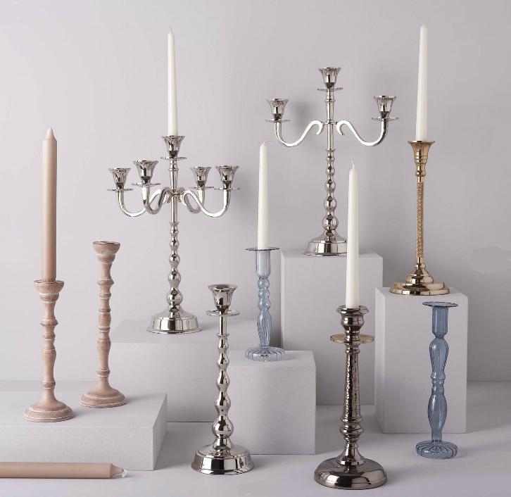 Milena Candlestick Candle Holder - Linens