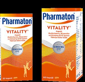 Natural Herbal Supplement - Pharmaton Vitality Efeversan Tablets & Capsules - Ginseng G115