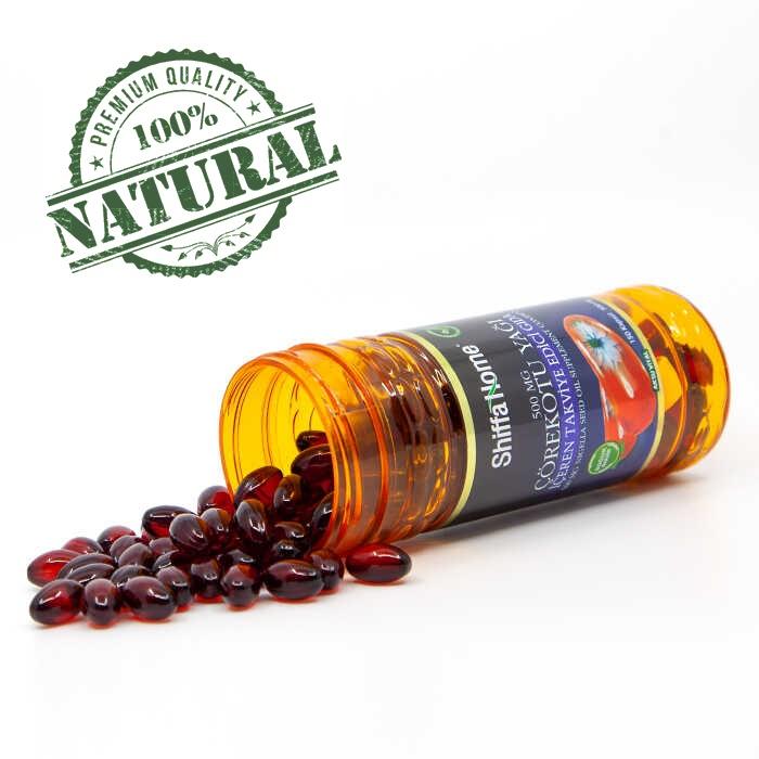 Turkish Herbal Supplement-Nigella Seed Oil Capsules/500 mg