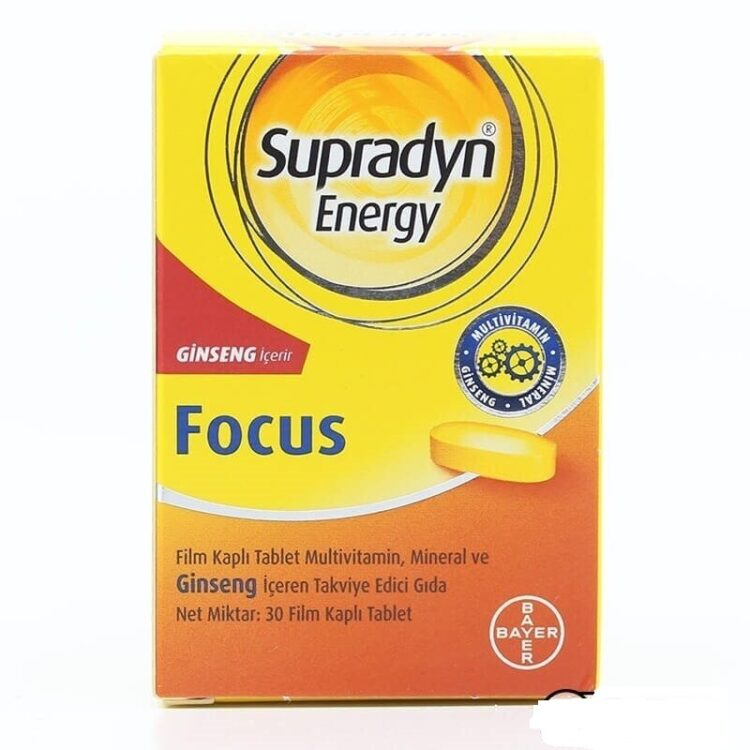 Natural Herbal Supplement - Supradyn Energy Focus - Gingseng