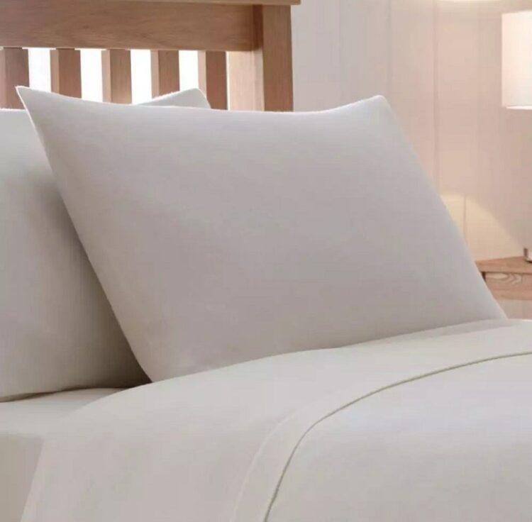 Double Duvet Cover Set -100% Cotton Ranforce Fabric/Cream