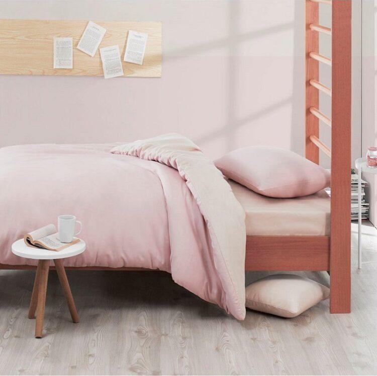 Single Duvet Cover Set -100% Cotton Ranforce Fabric/Pink