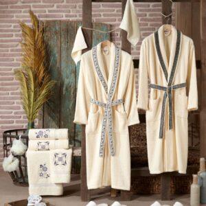 Turkish 100% Cotton Family Bathrobe Set - Nakkısh