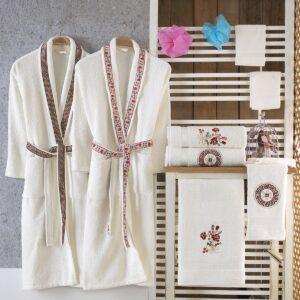Turkish 100% Cotton Masal Family Bathrobe Set - Nakkısh