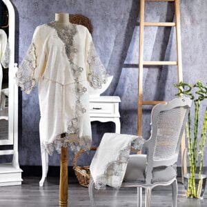 Turkish 100% Cotton (Venus) Honeymoon Bathrobe - Çeyiz Diyarı