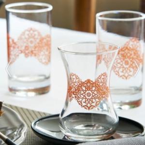 Lav Turkish Tea Glass Set-Divan (12pcs)
