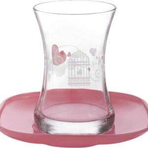 Lav Romans Turkish Tea Glass Set (12 Pcs)