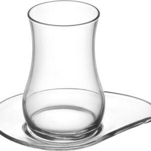 Lav Turkish Tea Glass Set-Eva (12pcs)