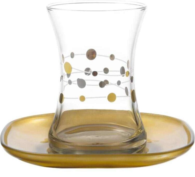 Lav Turkish Tea Glass Set-Glory (12pcs)