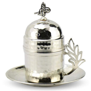 Turkish Copper Coffee Set Handcrafted - Cihan (Set of 6)