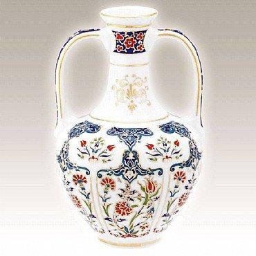 Turkish Kütahya Porcelain Handmade Vase 03