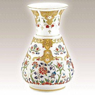 Turkish Kütahya Porcelain Handmade Vase 09