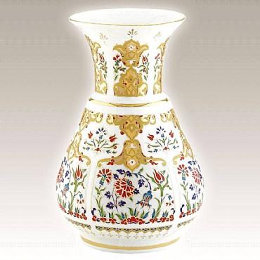 Turkish Kütahya Porcelain Handmade Vase 12