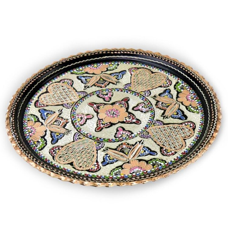 Turkish Tea Tray Handcrafted Copper - Nihal