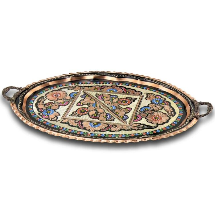Turkish Tea Tray Handcrafted Copper - Sultan